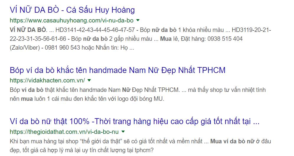 sử dụng công cụ tìm kiếm để bán hàng online