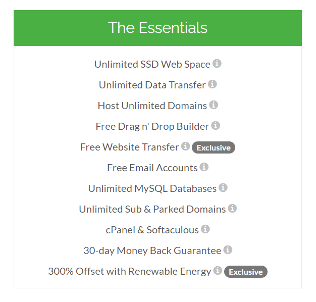 ổ SSD của hosting greengeeks