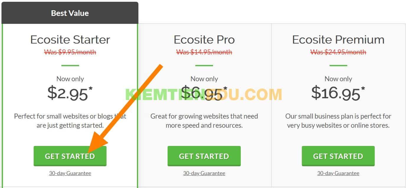 Trang mua hosting giá rẻ của Greengeeks