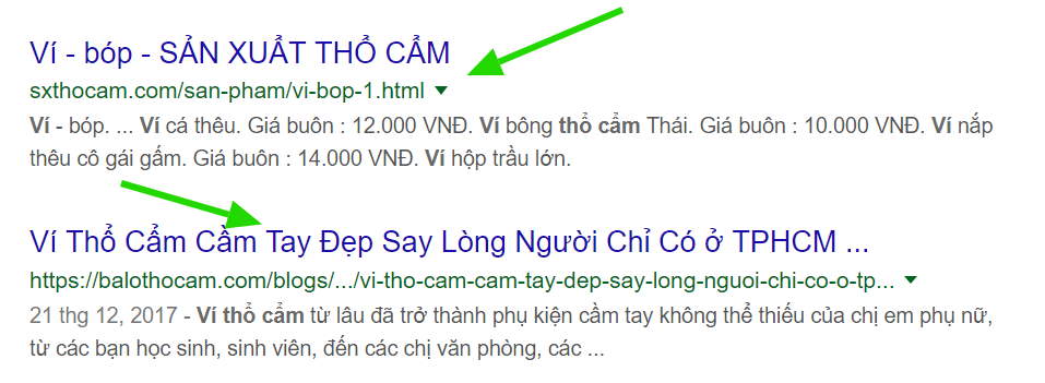 SEO website đưa sản phẩm lên Google