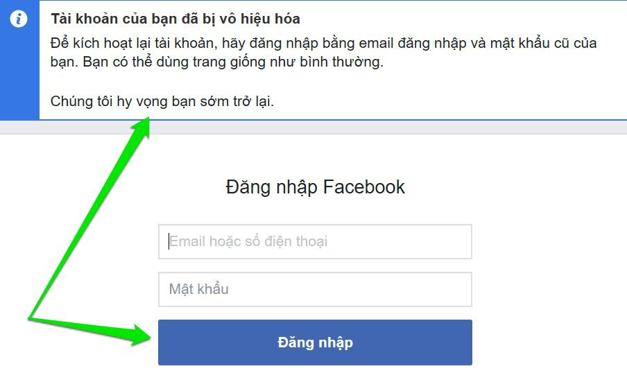 Khóa Facebook xong