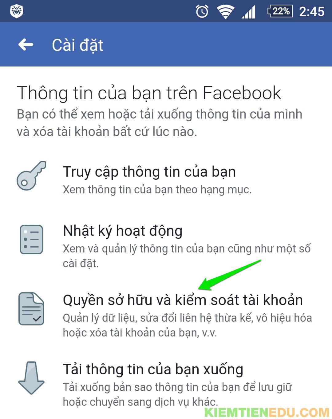Xóa tài khoản Facebook vĩnh viễn trên điện thoại
